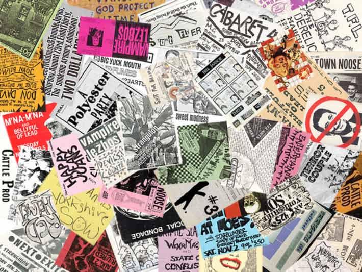 Spokane WA punk show flyers from the 80s